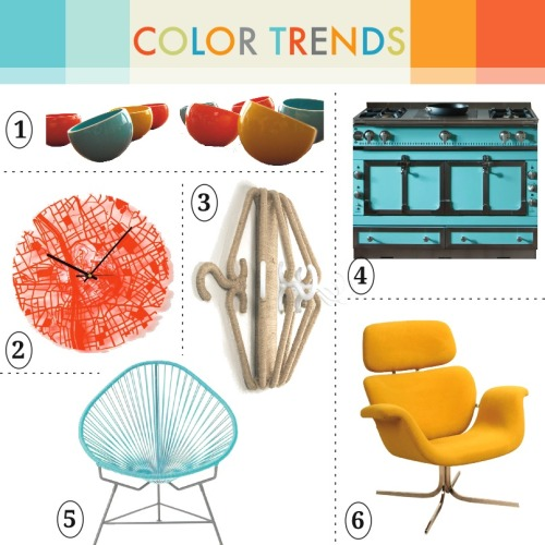 Take a look at our new Color Trend collection on Roomscaper: http://bit.ly/MfsoVu1. Wobble Bowls by SpeechlessStudios http://bit.ly/T550yQ2. Streets Clock by Aminimal Studio http://bit.ly/Qycltk3. Hanger Hook by SaeJungOh http://bit.ly/T55fKo4. Château 120 Range by LaCornue http://bit.ly/M6yOe65. Acapulco Chair by Greenpointworks http://bit.ly/Ot8B9Dv6. Tulip Chair by Pierre Paulin http://bit.ly/Qyd2To