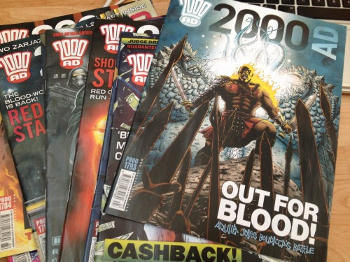 zoutman:  Got some new 2000AD Progs thanks to The Big Bang!  That is a prime slab of thrillpower you have there, consume carefully.