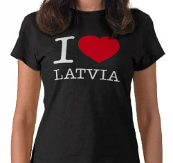 eyesblauwardrobe:  I LOVE LATVIA T-Shirt. Tailored for women by Bella, this Tee will quickly become your favorite.