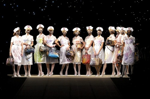 the nurses at Louis Vuitton S/S 2008