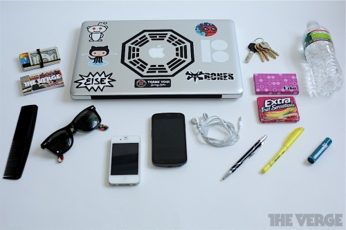 thisistheverge:  What's in your bag, Sam Sheffer?