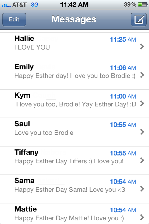 This is what my phone looks like right now. Yeah. I love a lot of people.