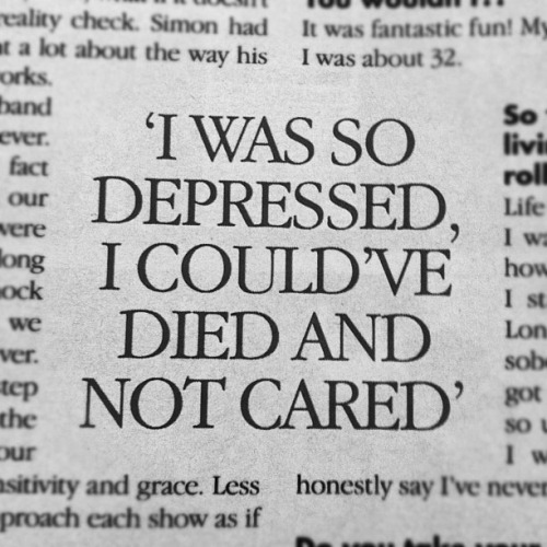 ***I am so depressed that I could die and not care.
