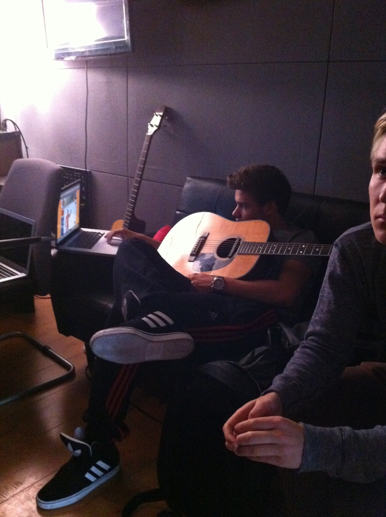 onedirection:  Liam in the studio.