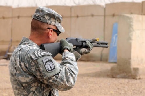 United States Army (Military Police) - non-lethal weapons and munitions training program.