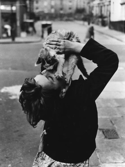 lauramcphee:  Girl with cat, Southam Street, London, 1957 (Roger Mayne)