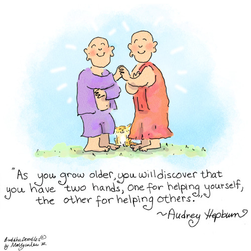 Buddha Doodle - 'Two Hands' ♥ Please Share ♥ by Mollycules