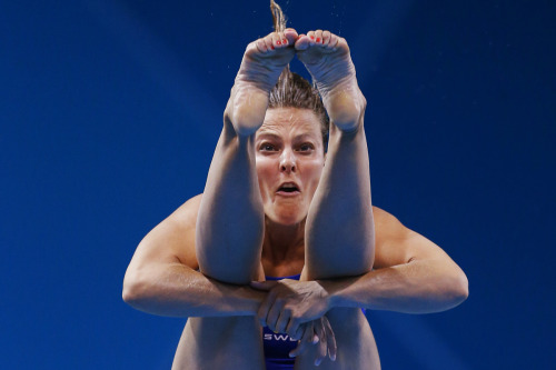 picturedept:  Photo of the Day: August 3, 2012 Sweden's Anna Lindberg performs a dive during the women's 3m springboard preliminary round at the London 2012 Olympic Games at the Aquatics Centre. Photo: Jorge Silva / Reuters PHOTO OF THE DAY ARCHIVE