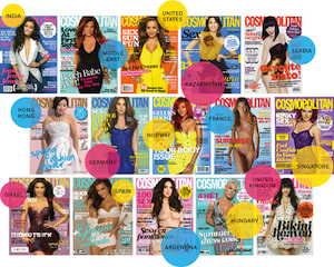 "Cosmopolitan magazine is often spurned as ""mindless,"" but it has also grown into 64 editions worldwide, and a readership of 100 million teens and young women in more than 100 nations—including those ""where any discussion of sex is taboo"":  Akisheva, the editor in Kazakhstan, told me that until recently, she received a handwritten note from Brown after the publication of each issue. 'Our readers might not be very familiar with Helen Gurley Brown's books and biography,' she said, 'but they surely are influenced by her original ideas. Because this is what Cosmo keeps telling them: You are strong, you can control your life, you can earn as much as men do and you can have sex before marriage and not be condemned by society.' But what about the other stuff that Cosmo is telling them? One morning at Cosmic, a panel discussion included talk of some favorite Cosmo topics: sex toys (said to produce 'the most incredible combinations of orgasms'), how to help men get erections more quickly and anal sex ('backdoor booty' as the magazine has called it). One panelist, a young Spanish woman, said that she teases her boyfriend with anal sex and then, jokingly, that she has to save something for marriage. The crowd roared. 'Only at Cosmo,' said the editor of Cosmo Australia, Bronwyn McCahon, between bites of miniature muffins and sliced melon, 'will you be talking about anal sex at 10 a.m.'  ""99 Ways to Be Naughty in Kazakhstan."" — Edith Zimmerman, New York Times Magazine More Zimmerman"