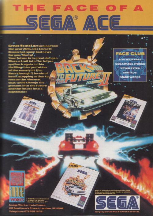 Ad for Back to the Future II on the Sega Master System.