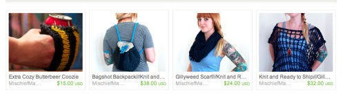 Guys! I listed a buncha new things! Go check them out! Accio all my knits! Mischief Managed Knits