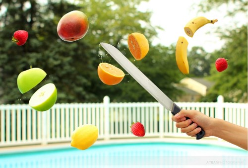 Fruit Ninja en la vida real :)