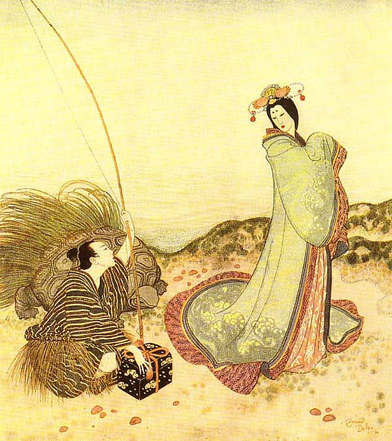Edmund Dulac, Urashima on Flickr.  Click image for 600 x 675 size.