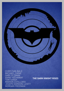The Dark Knight Rises poster [Blue Variant]
