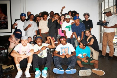 Once again the entire Odd Future crew, including Tyler The Creator, Frank Ocean, Earl Sweatshirt and the rest made it out to New York for a little photo session with star photographer Terry Richardson. The outcome is as usual a crazy, fun, messy, very real shoot of the Los Angeles team. The photographer manages like no other to capture his subjects in real life situations. Here you can watch Part 1 and Part 2 of the Odd Future freestyle sessions that happened at the studio as well.