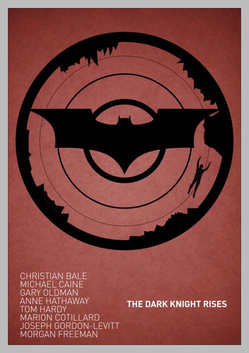 The Dark Knight Rises poster [Red Variant]