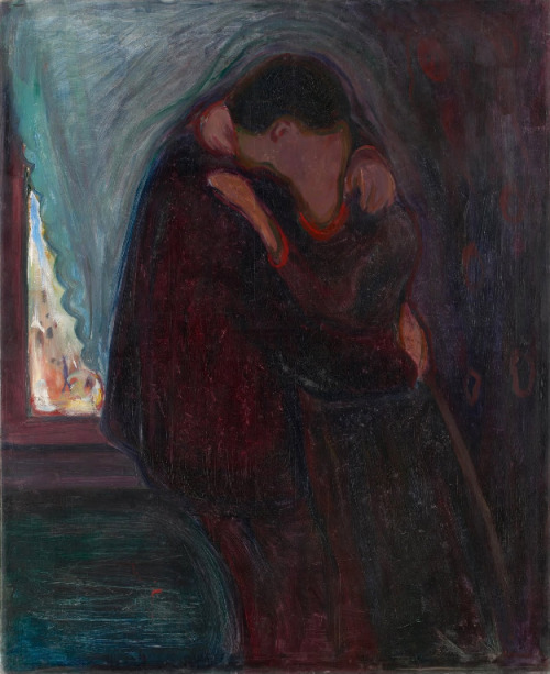 """The Kiss"", 1897. by Edvard Munch"