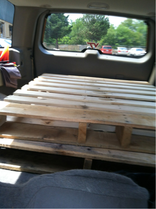 Step 1: Acquire pallets - Check!  Step 2: Turn into a coffee table, somehow - TBD