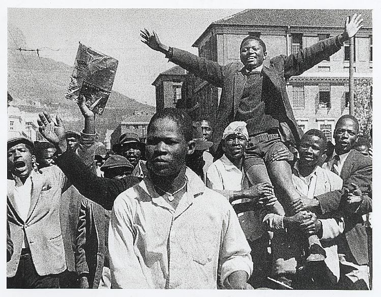 collective-history:  Philip Kgosana of the PAC led a march against the pass laws in Cape Town ca. 1960 Meanwhile, protesters in Langa converged upon the township square where police dispersed them with gun fire, killing three people. This protest in Cape Town took place nine days after the massacre of protestors at Sharpeville.  Cape Times Collection, National Library of South Africa