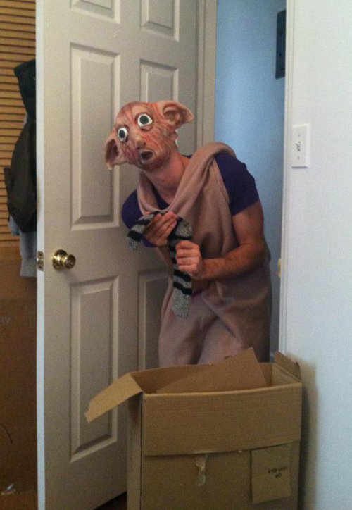 So my friend's roommate dressed up as Dobby and scared the shit out of her.