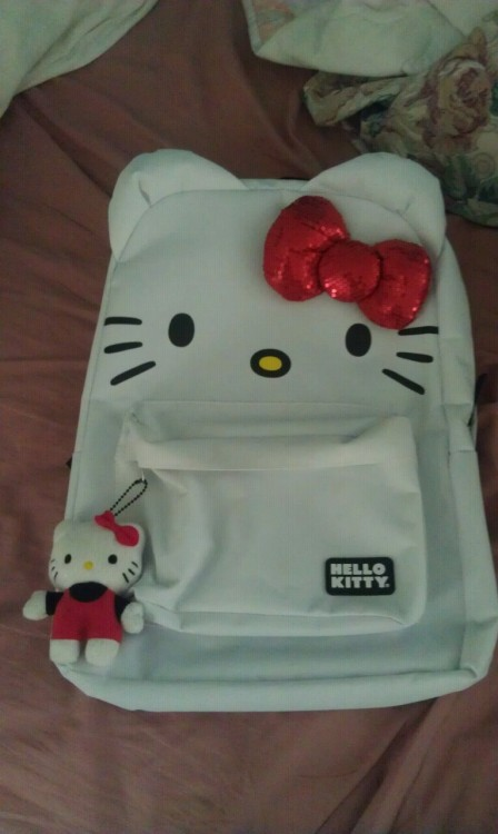 I got the Hello Kitty backpack. C: