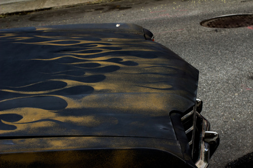 Matte black El Camino gold flames 2 (by corsiglia)