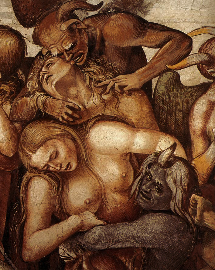"sinisterrealm:  ""The Damned"" detail 4 by Luca Signorelli (1499-1502)"