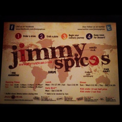 Look where I am ;D #food #yum #jimmyspices #foodporn  (Taken with Instagram)