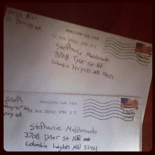Got two more letters from my soldier. #MilSo (Taken with Instagram)