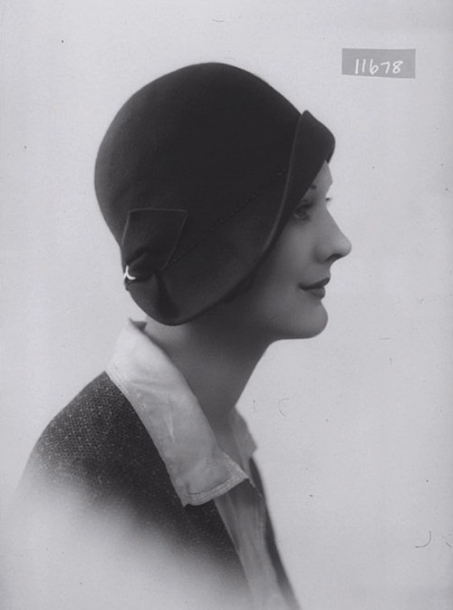 lauramcphee:   Hat Model, A.R. Baker milliner, London, 1930 (Bassano)