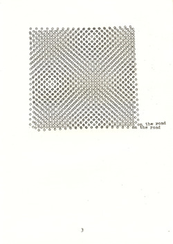 Kasper Pincis  'On the Road' 2010  Typewriter on paper