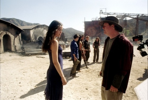 movie-making-magic:  Joss Whedon directing Summer Glau on his 2005 film Serenity