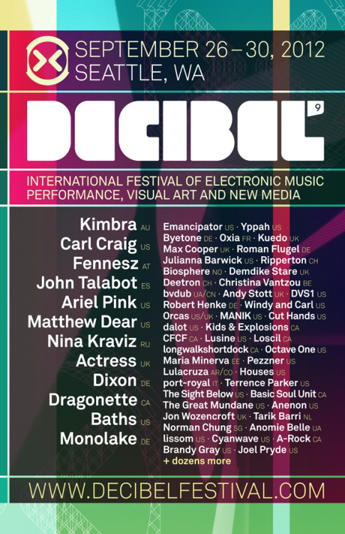 2012 Decibel Festival After Hours Events Announced