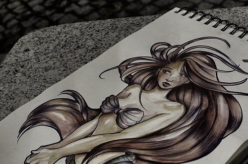 mermaid drawing on tumblr