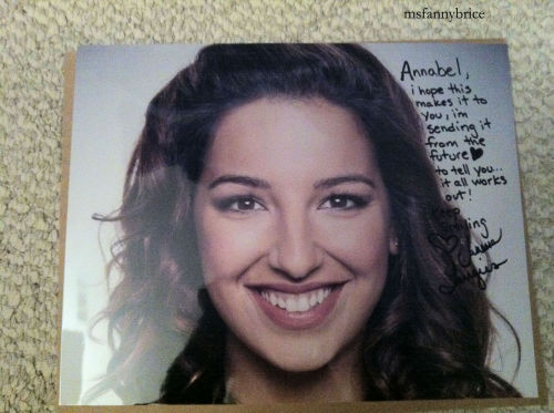 msfannybrice:  Signed Vanessa Lengies photo I got today!  SHE'S JUST SO CUTE.