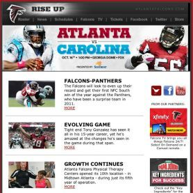 "The Atlanta Falcons' social media strategy is centered around two things, according to Dan Levak, Director of New Media: Be consistent in interacting and be authentic. ""…when someone takes the time out of their busy lives to reach out to us –- then we OWE that fan a response. Even a simple acknowledgement that 'yes, we heard you' goes a long way. Rewarding someone who invests their valuable and increasingly scarce time with our brand is one of the most important things we do."""