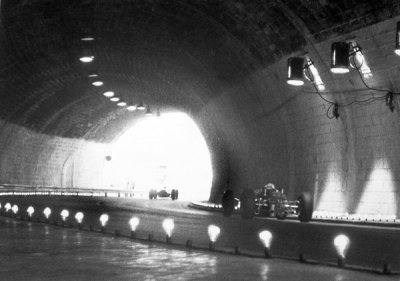 what we miss … ambient lighting tunnel at Monaco during the 1965 Grand Prix