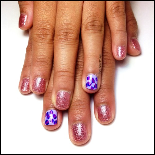 Niece's Nails: Hue Left A Message? & Leopard Print View Post shared via WordPress.com
