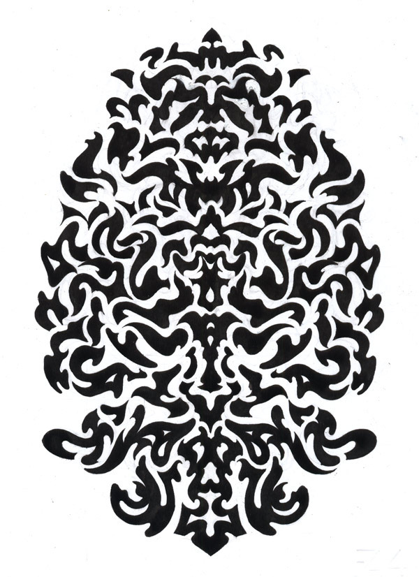 Totem 4 by Smokov Ink drawing, 30 x 20 cm, July 2012