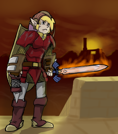 "Some zelda fanart i made after finishing ""A link to the past"" again a few days ago. I know most of the items are not like that in the game, but i wanted to give it that twist."