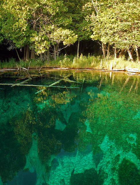 visitheworld:  Kitch-iti-kipi Spring, Michigan's largest natural freshwater spring, USA (by I am Jacques Strappe).