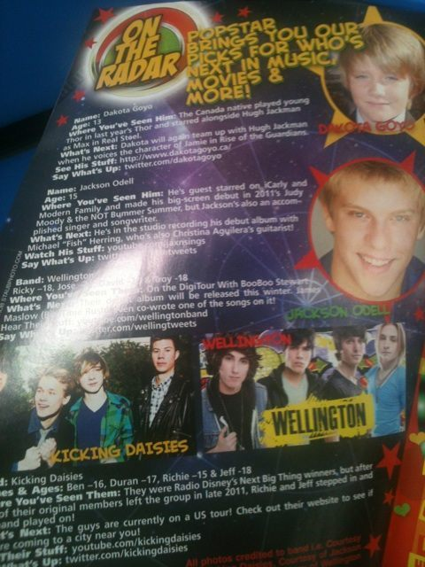 WE'RE in POPSTAR MAGAZINE!
