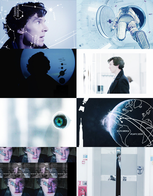 SHERLOCK: S P A C E  A U (verse » 1, 2, 3, 4)space is endlessly fascinating to sherlock holmes. at first glance it appears to be unchanging, black emptiness, but he knows that stars are being born in fiery furnaces while planets are being swallowed by black holes. thus he continues solving crimes across the ever-expanding cosmos; after all, he is the universe's only consulting detective.