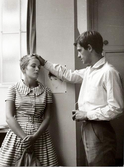 "Every scene in ""Breathless""  snapshots71:  Jean Seberg & Jean Paul Belmondo in ""À Bout de Souffle"" by Jean-Luc Godard, 1960"