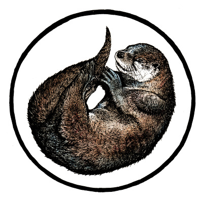natalieillustrates:  Otter.My eighth illustration of the 'Sleeping Wood' series, in watercolour.