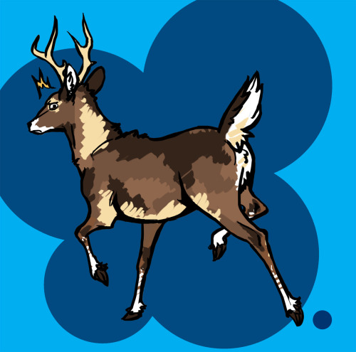 HEY TUMBLR SO I HERD YOU LIKE DEER SO HERE HAVE THIS SASSY-BUTT LITTLE PRICK
