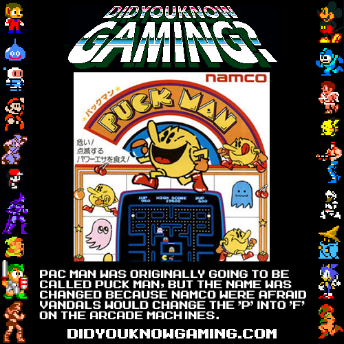 didyouknowgaming:  Pac Man.