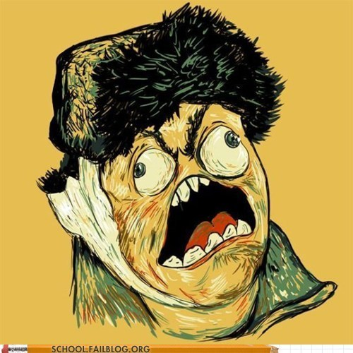memehunter:  Art History 318: Van Gogh the Rage Face