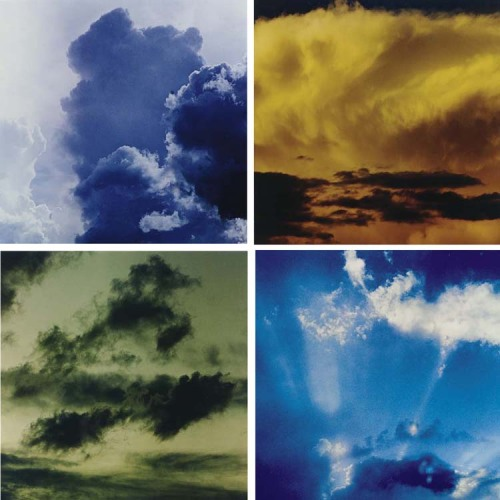 ELIOT PORTERCloud formations, 1960s-80s  4 dye-transfer prints  each approx. 8½ x 8½in. (21.6 x 21.6cm.)