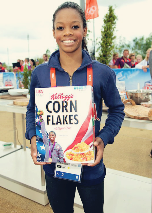 knowledgeequalsblackpower:  fuckyeahfamousblackgirls:  Gabby Douglas will appear on the latest edition of Kellogg's Corn Flakes boxes   I haven't had a box of these in a long time, but I'm going to get a box of this flavorless cereal just for you girl…